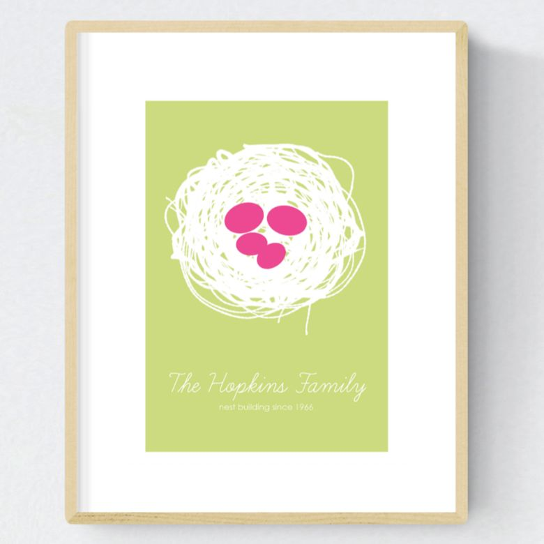 Nest personalised family print