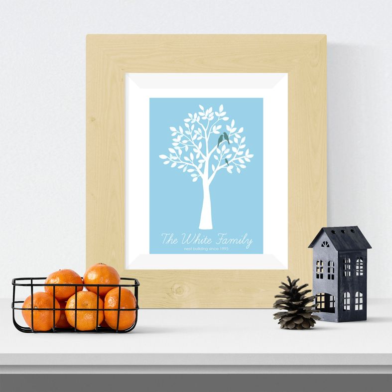 Family personalised tree print