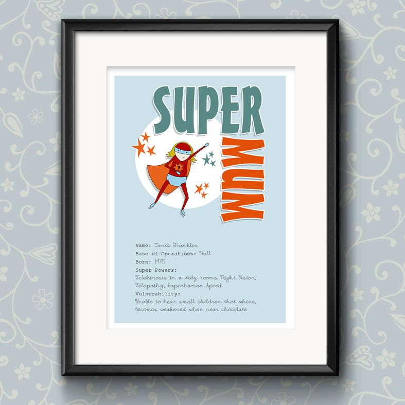 Personalised Superhero prints for Mothers Day | personalised Mothers Day gift | print for mum | PhotoFairytales