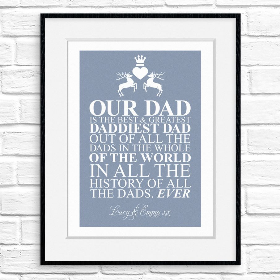 Best Dad in the World personalised Fathers Day gift
