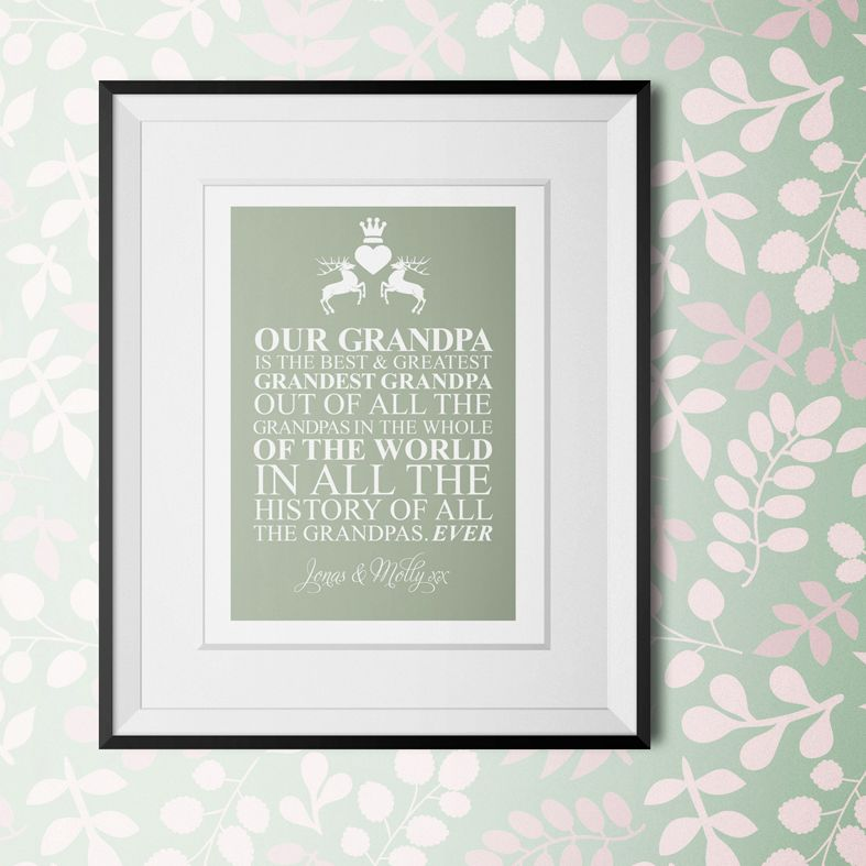 Best Grandpa in the World personalised Fathers Day gift