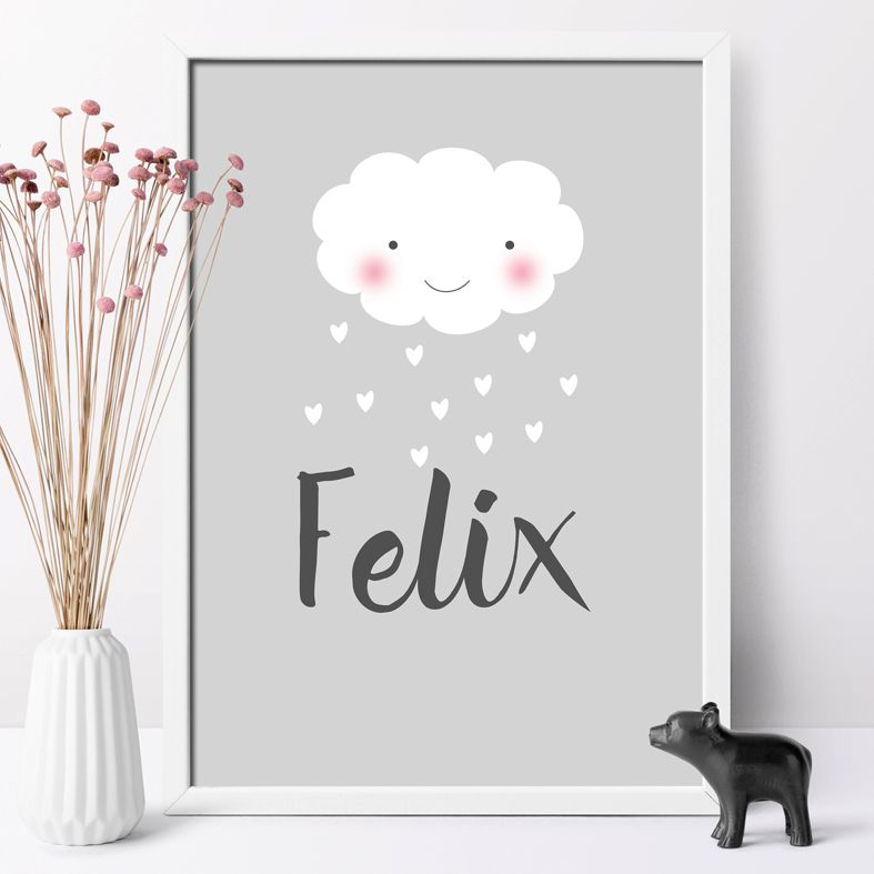 Raining Love personalised Smiler poster print