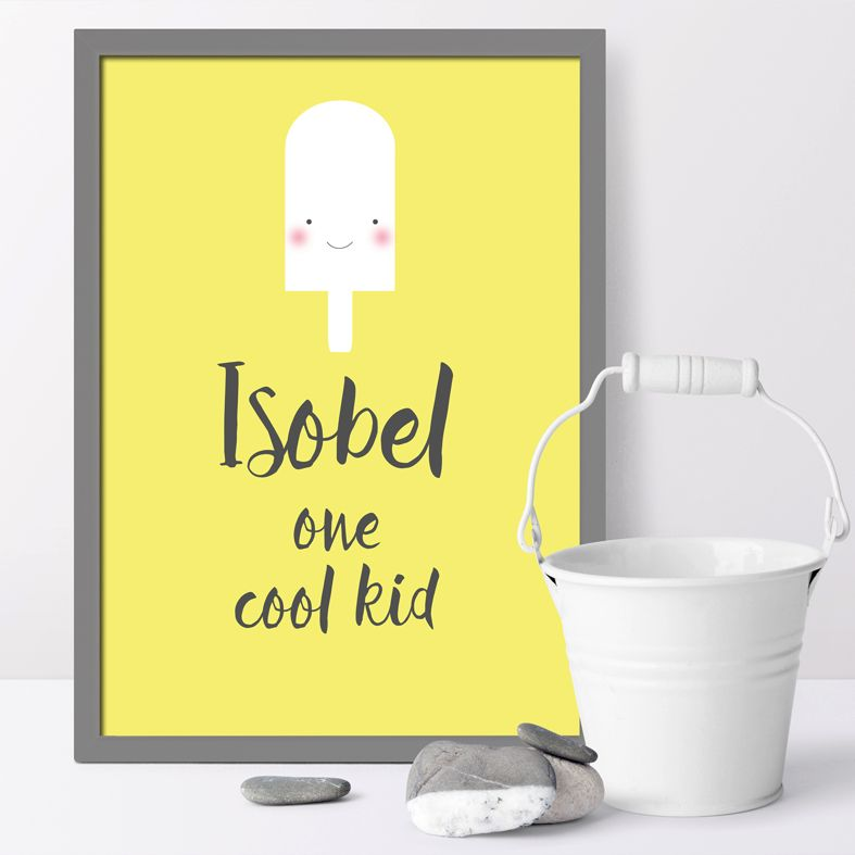 One Cool Kid personalised Smiler print