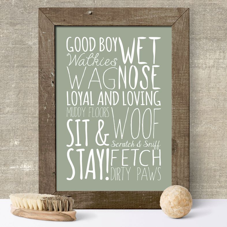 Dog Word Theme bespoke word art print