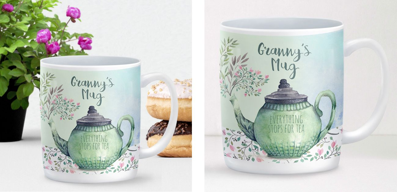Everything Stops for Tea personalised mug gift for her