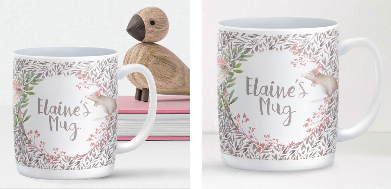 Little Mouse personalised mug gift for her