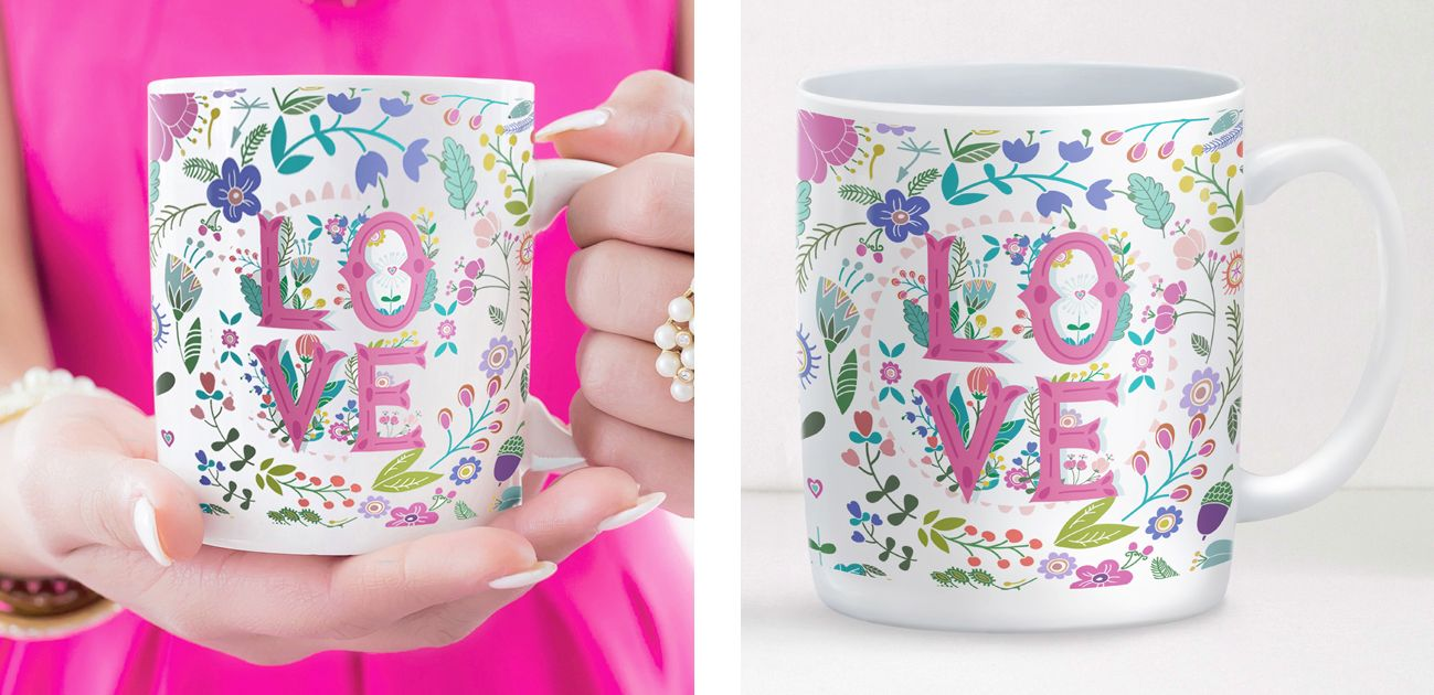 Summer of Love personalised mug Valentine gift
