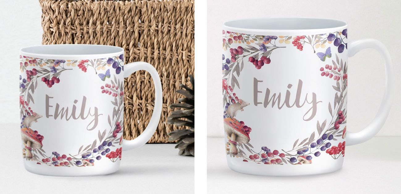 Berries personalised mug gift