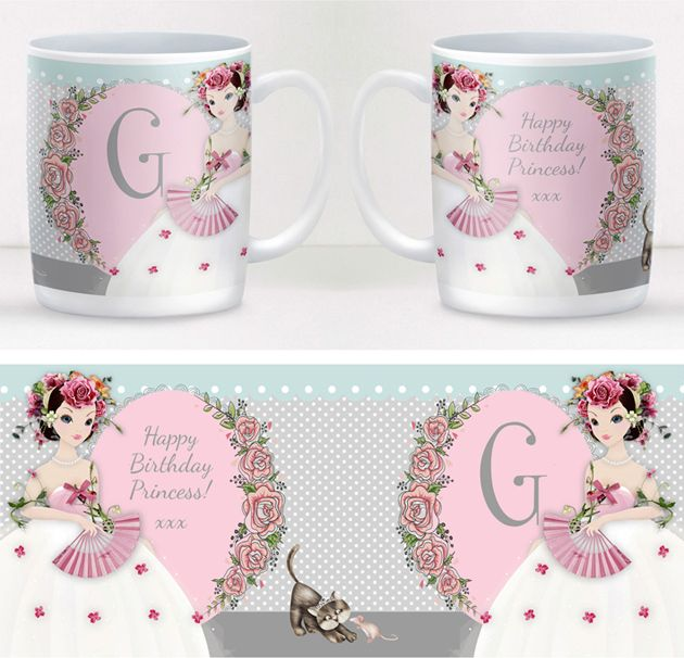 Princess personalised mug gift