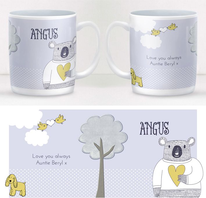 Love Bear personalised mug gift