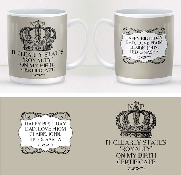 Royalty personalised mug fun gift