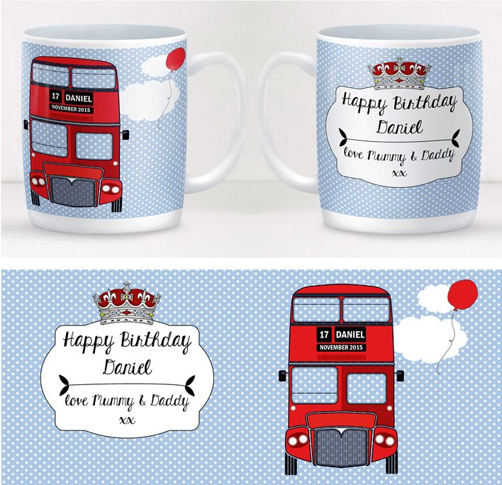 London Bus personalised mug