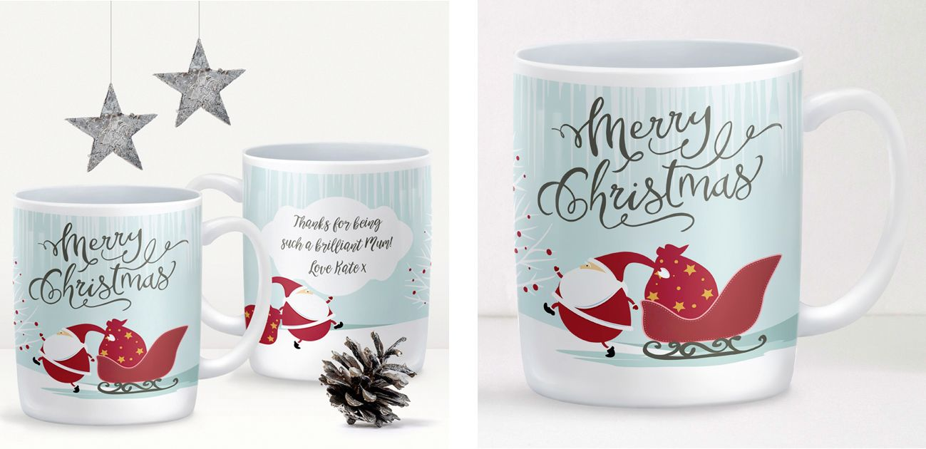 Santa personalised Christmas mug stocking filler