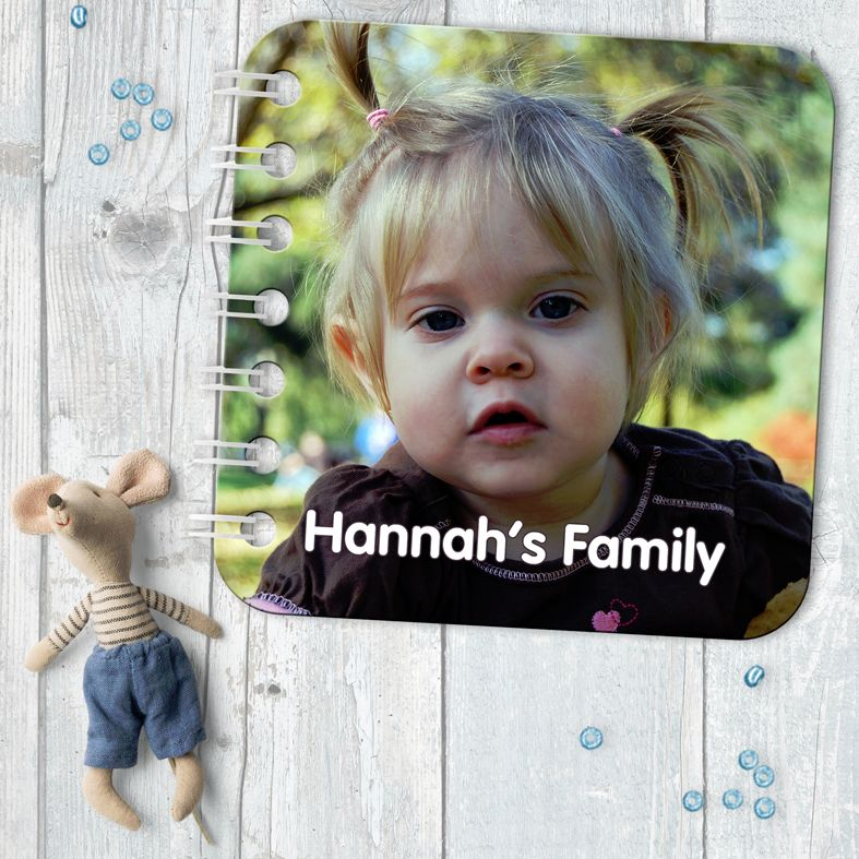 Personalised baby board book photo gift