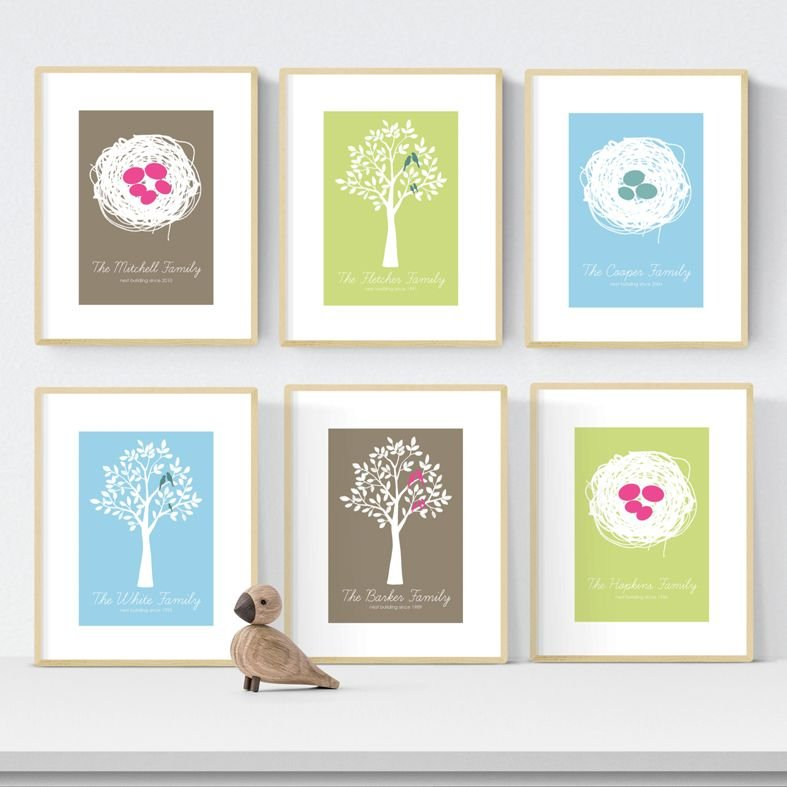 Personalised family print adoption gift