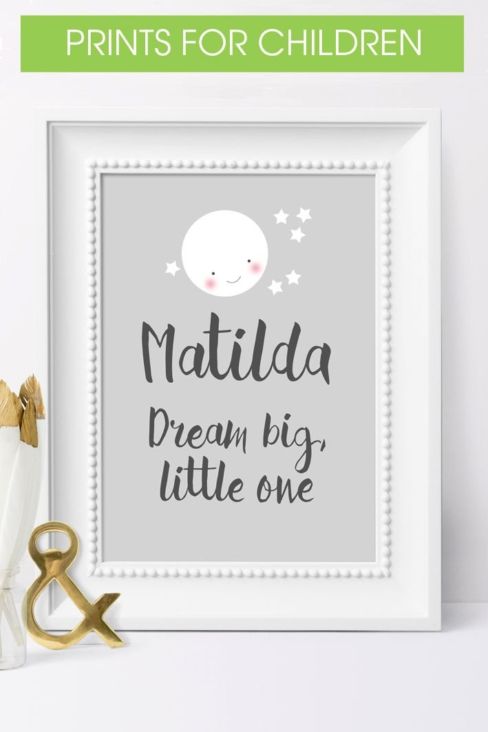 Personalised wall art prints for children