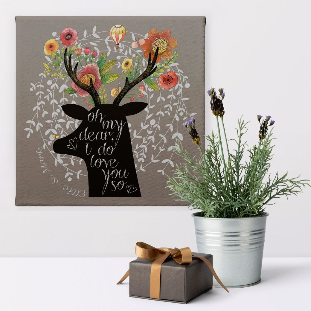 My Dear personalised anniversary canvas gift