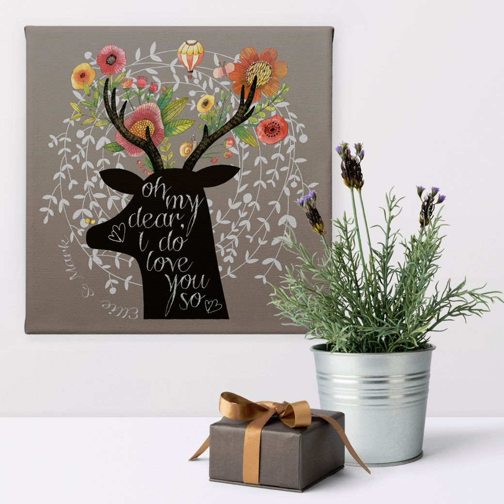 Love romantic gift personalised canvas print