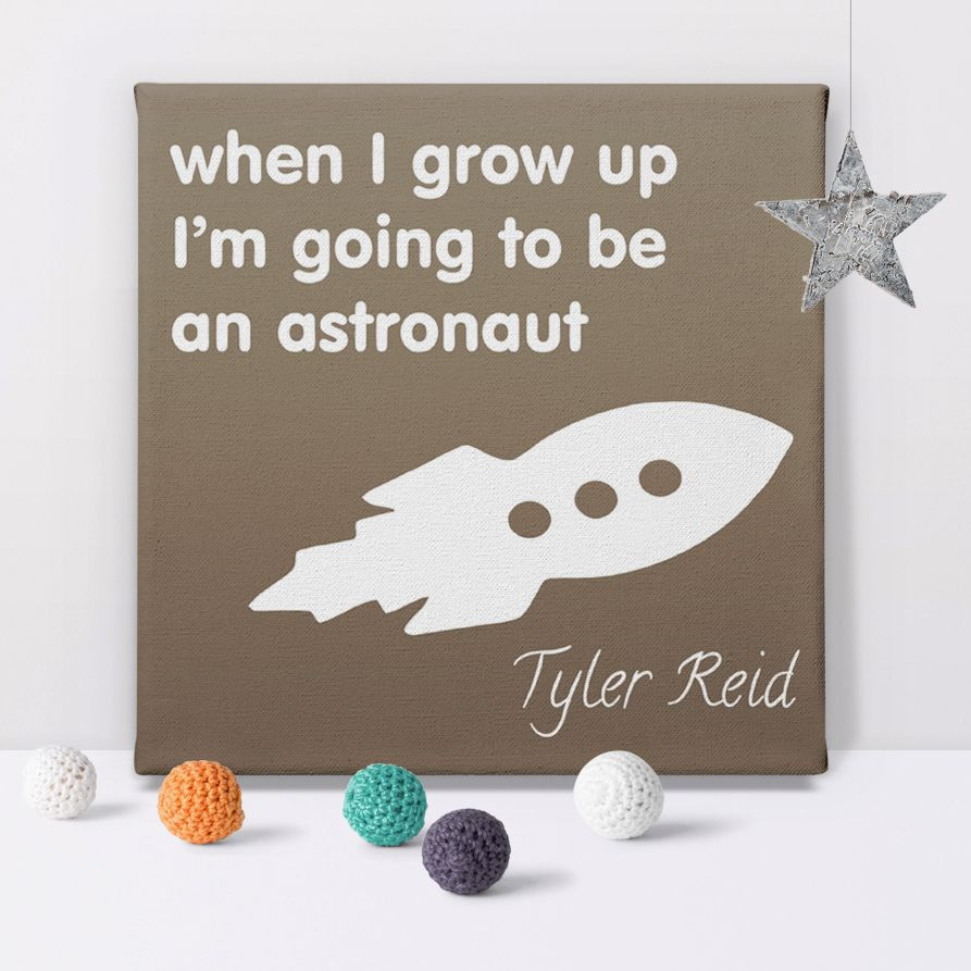When I Grow Up personalised canvas prints