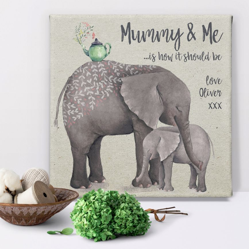 Mummy and Me personalised mothers day canvas gift