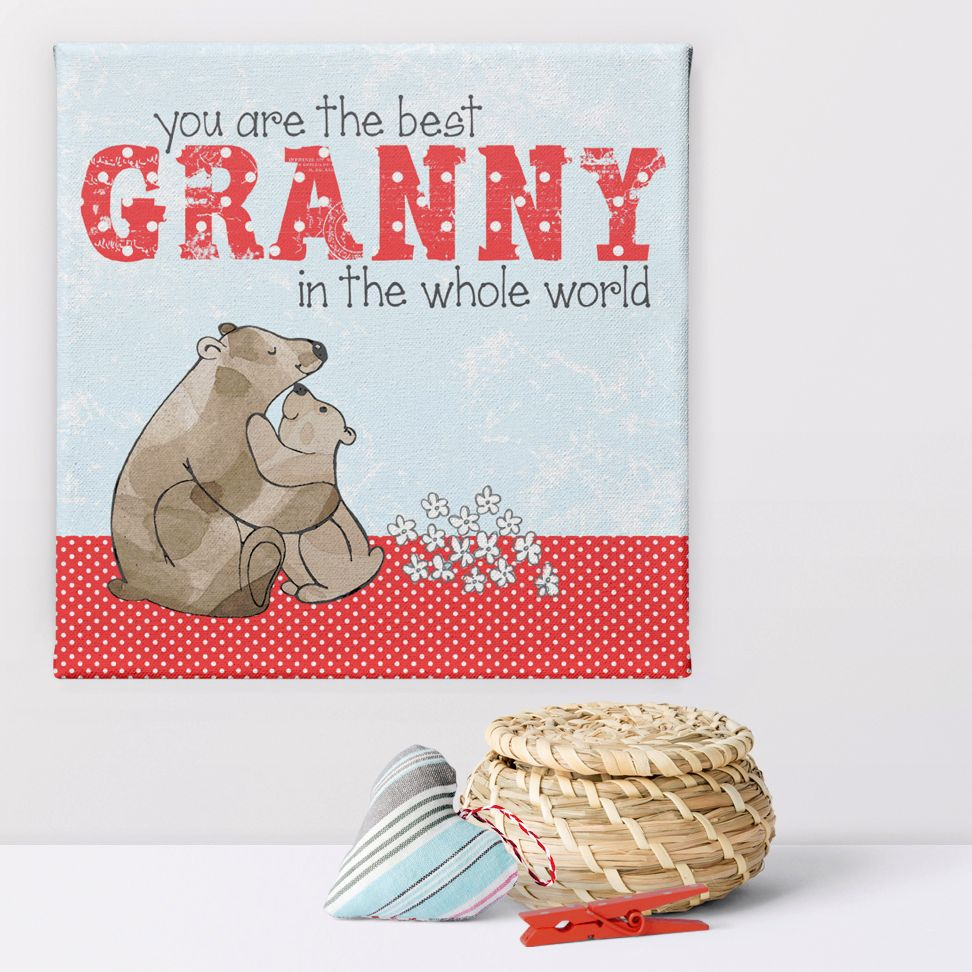 Best Granny Mummy personalised canvas print