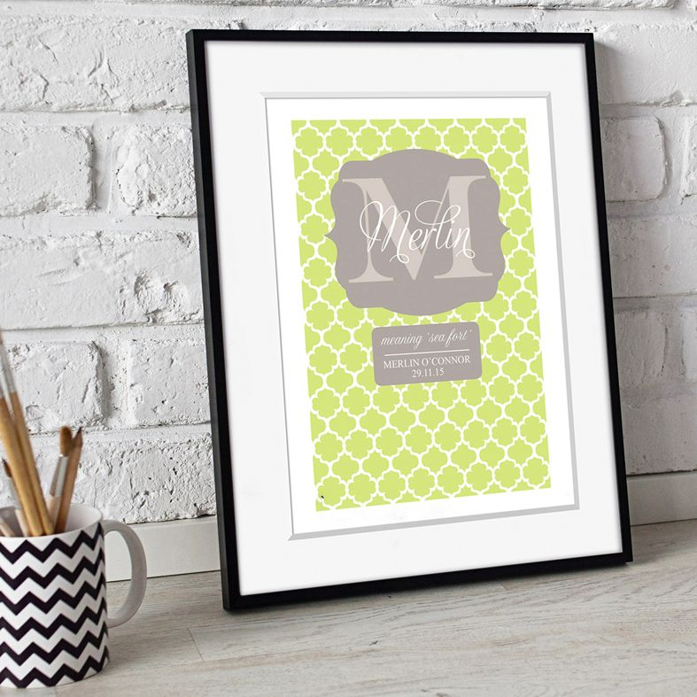 Personalised Meaning of Name Prints