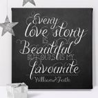 Love Story personalised canvas print