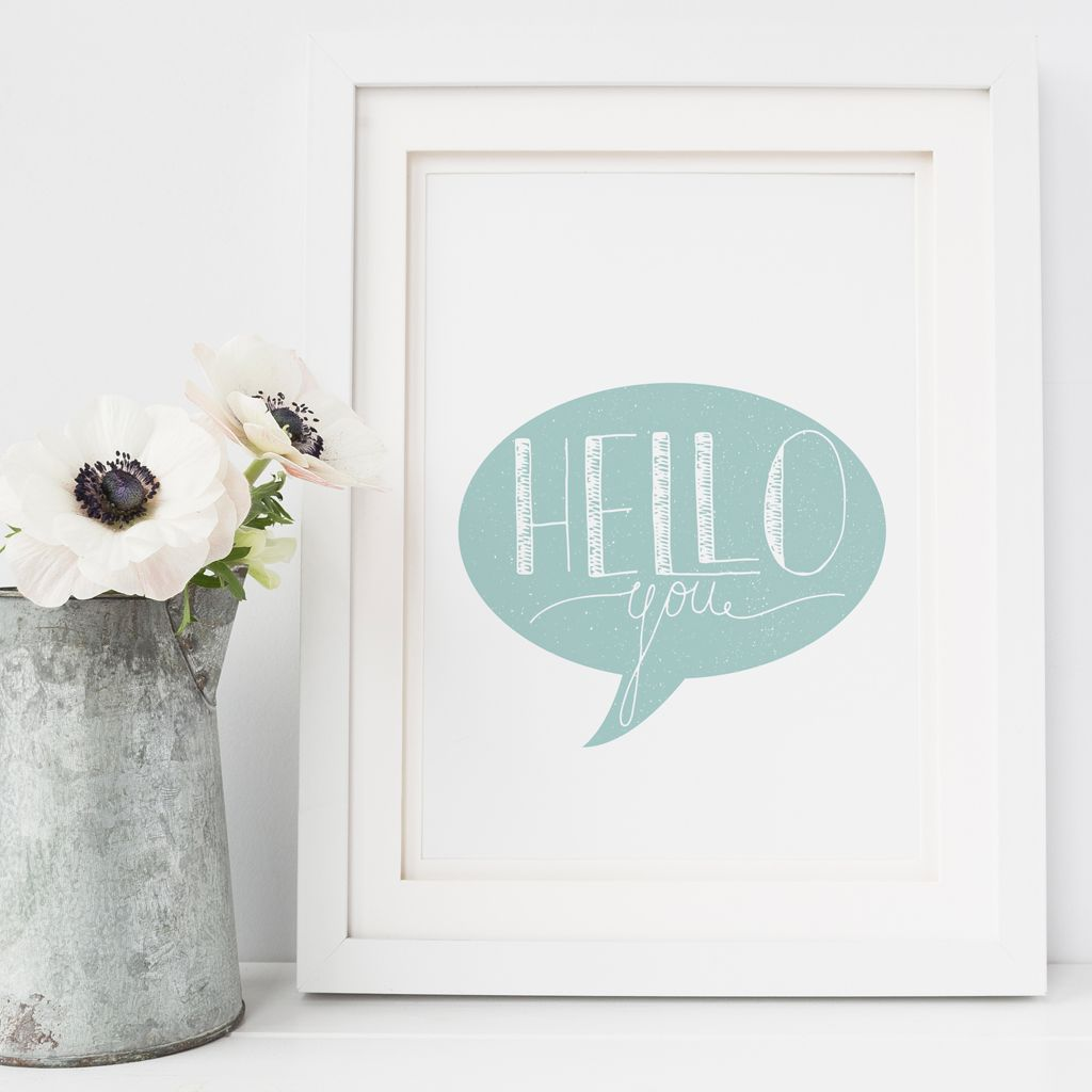 Hello You art print | made to order Scandi wall art from PhotoFairytales