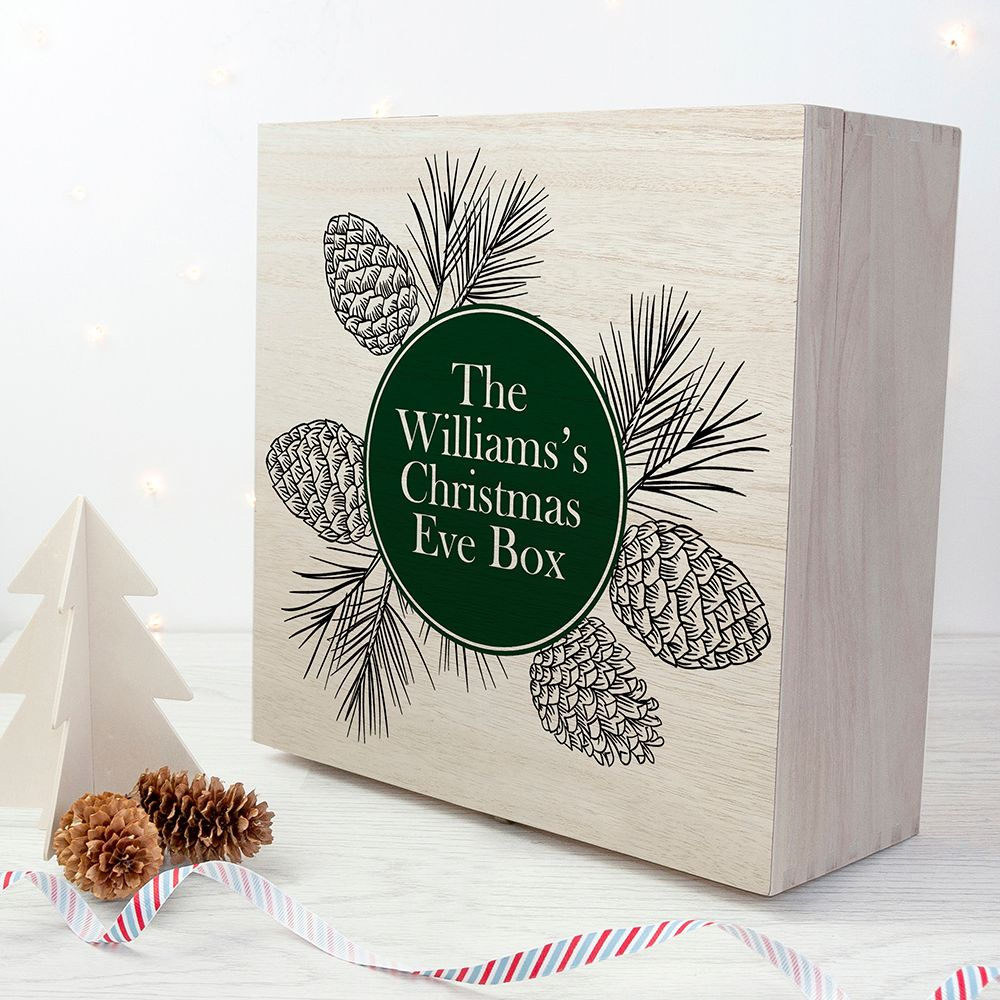 Personalised wooden Christmas Eve box | Classic design | choice of designs available at PhotoFairytales