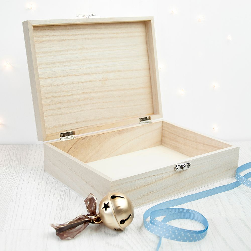 Personalised Christmas Eve Boxes | printed and engraved high quality festive wooden boxes, from PhotoFairytales