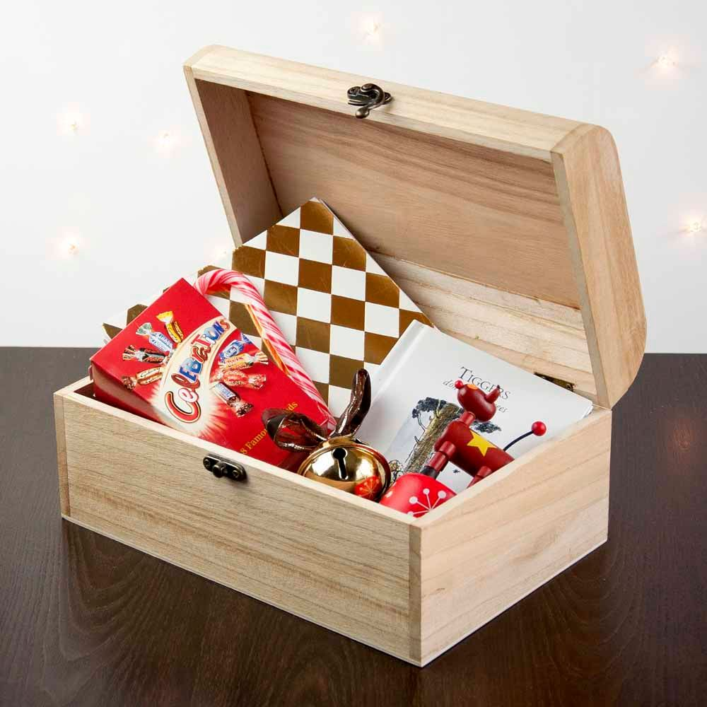 Personalised wooden Christmas Eve boxes | range of designs available at PhotoFairytales