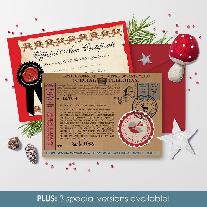 Personalised telegram from santa individually created and unique personalised santa telegrams letters photofairytales spiritdancerdesigns Choice Image