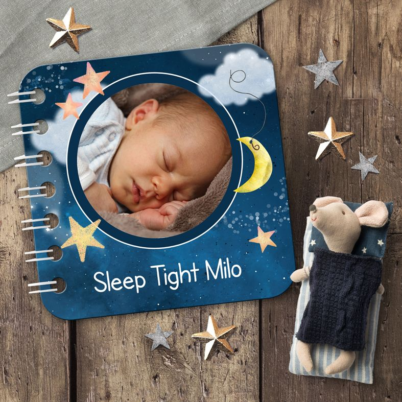 Sweet Dreams personalised bedtime baby board book featuring your own photos and wording | from PhotoFairytales