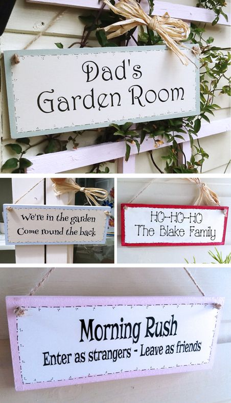 Personalised handmade wooden room wall plaques | PhotoFairytales