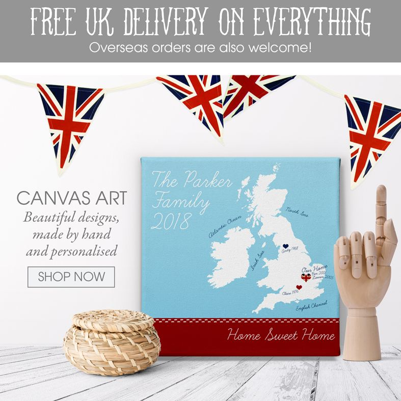 personalised canvas wall art prints | handmade gifts and keepsakes | made in Britain | PhotoFairytales