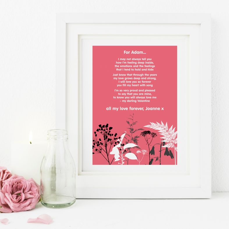 Nature personalised romantic love poem gift | Valentine gift | PhotoFairytales
