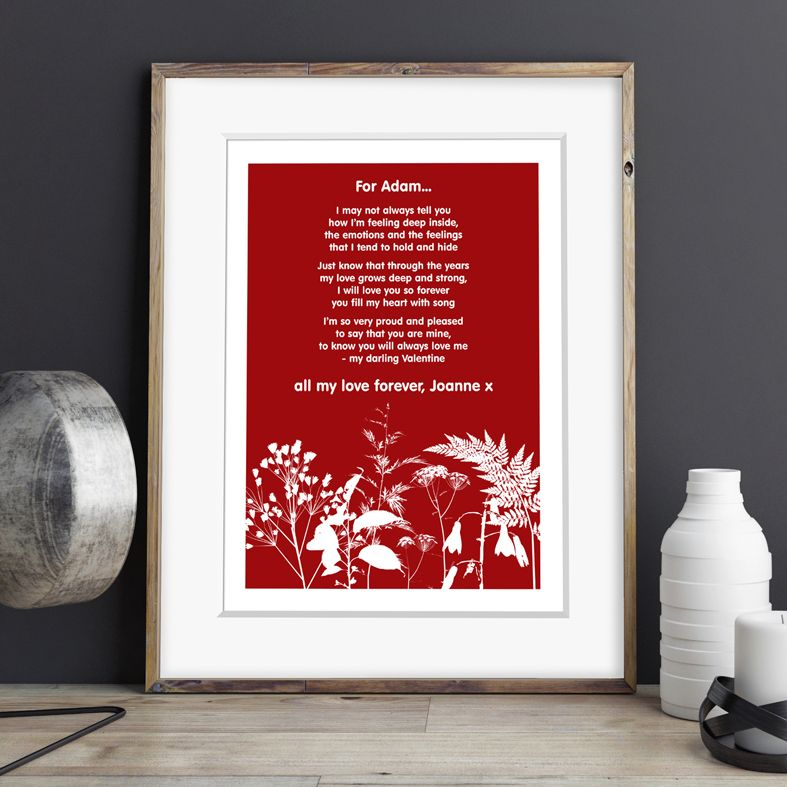 Personalised Valentine Love poem prints | PhotoFairytales
