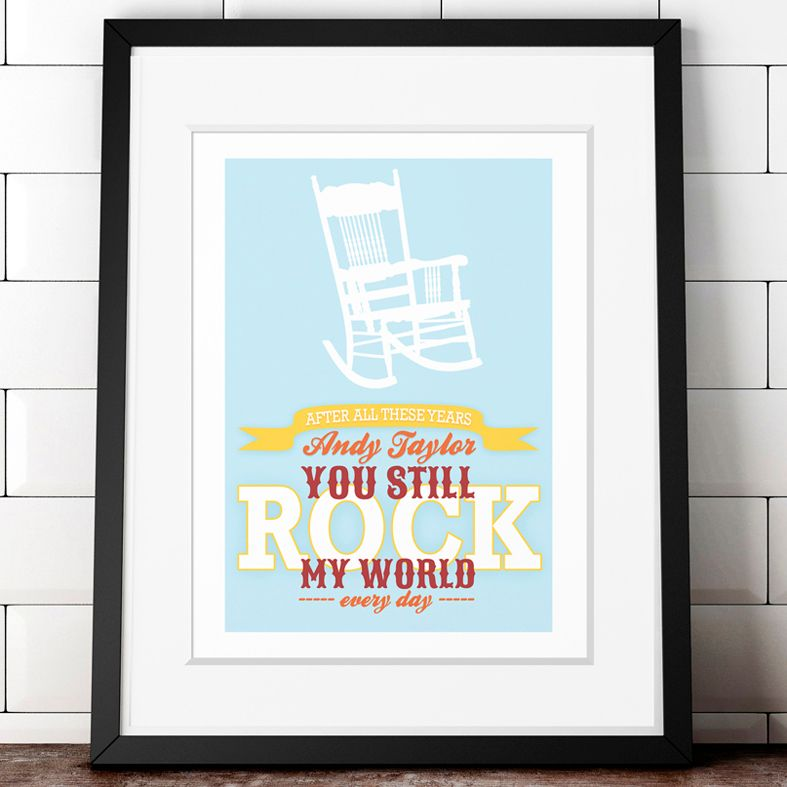 You Still Rock my World | personalised print wall art | personalised anniversary Valentine gift | PhotoFairytales