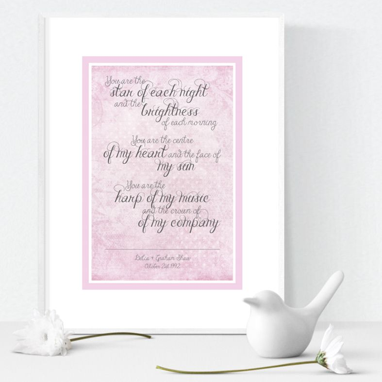 Star of Each Night personalised love prints