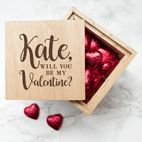 Personalised engraved wooden photo cubes | oak keepsake boxes | Valentine, anniversary, wedding gift from PhotoFairytales
