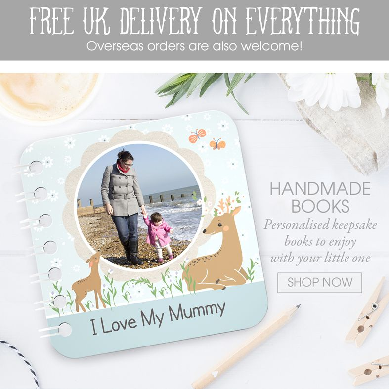 personalised handmade board books | handmade keepsake gift baby toddler | made in Britain | PhotoFairytales