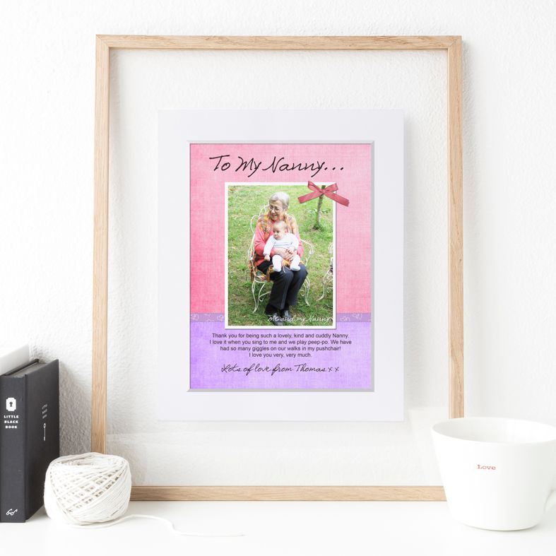 My Message to You personalised print | Ribbon personalised Mother Father Granny Grandad Nan gift | PhotoFairytales