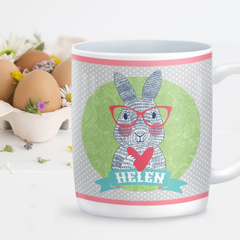 Personalised Rabbit Bunny mug from PhotoFairytales | lovely personalised Easter gift idea
