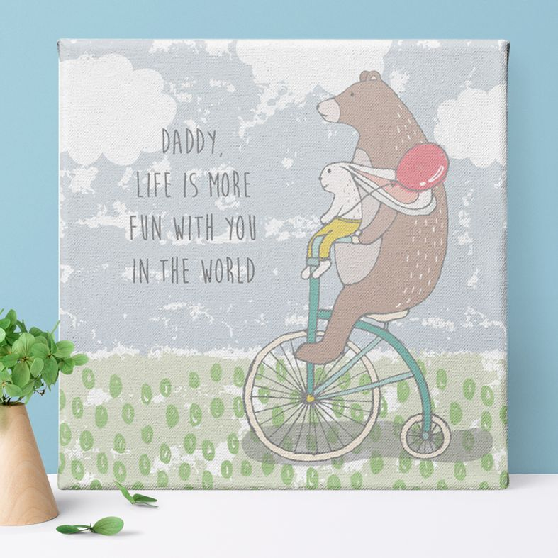 Life is More Fun personalised canvas picture