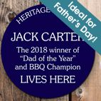 Personalised Blue Heritage Plaque gift for Him