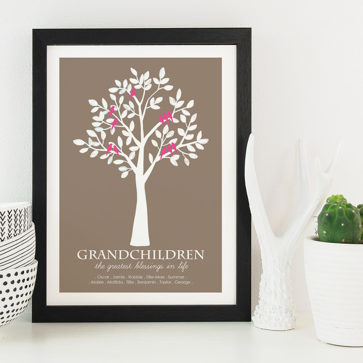 Grandparent Grandchildren Family Tree print