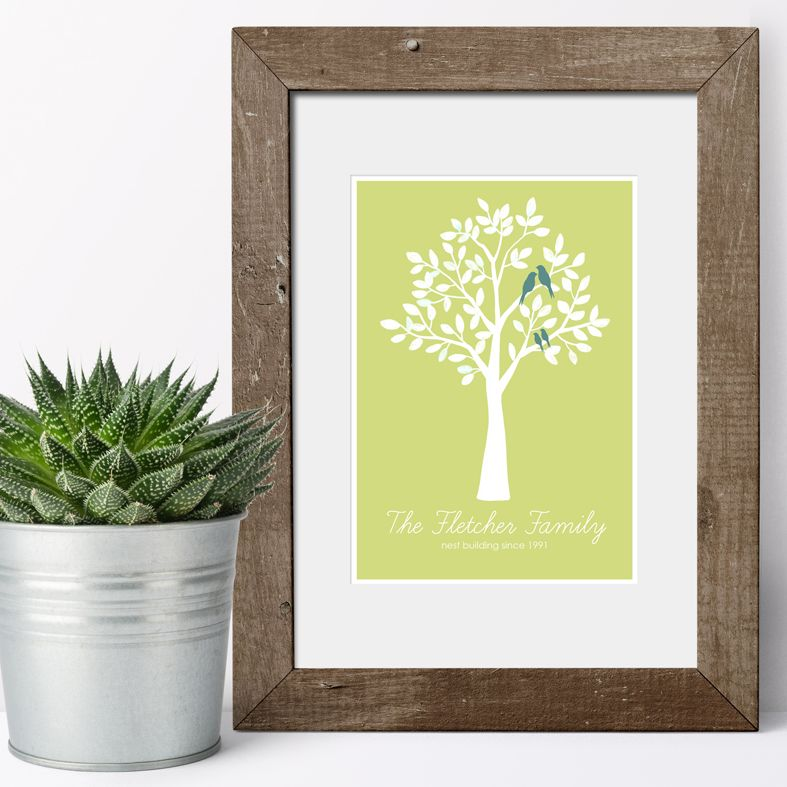 Personalised Family Prints Tree Nest gift for family