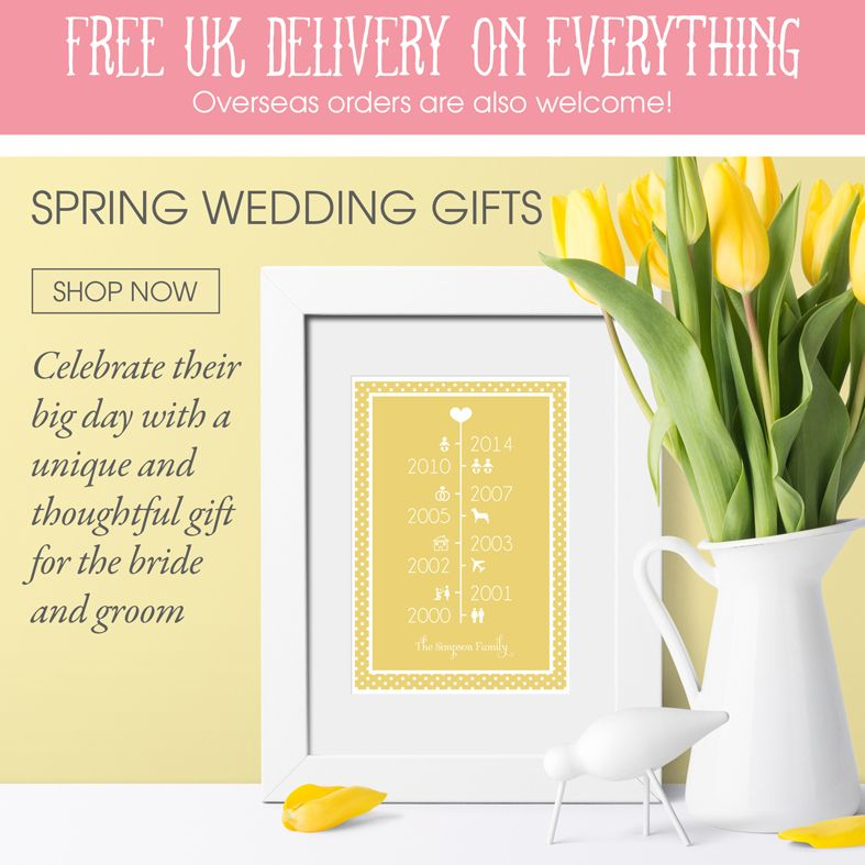 Personalised Wedding gifts | personalised prints bespoke wall art and gifts | made in Britain | PhotoFairytales