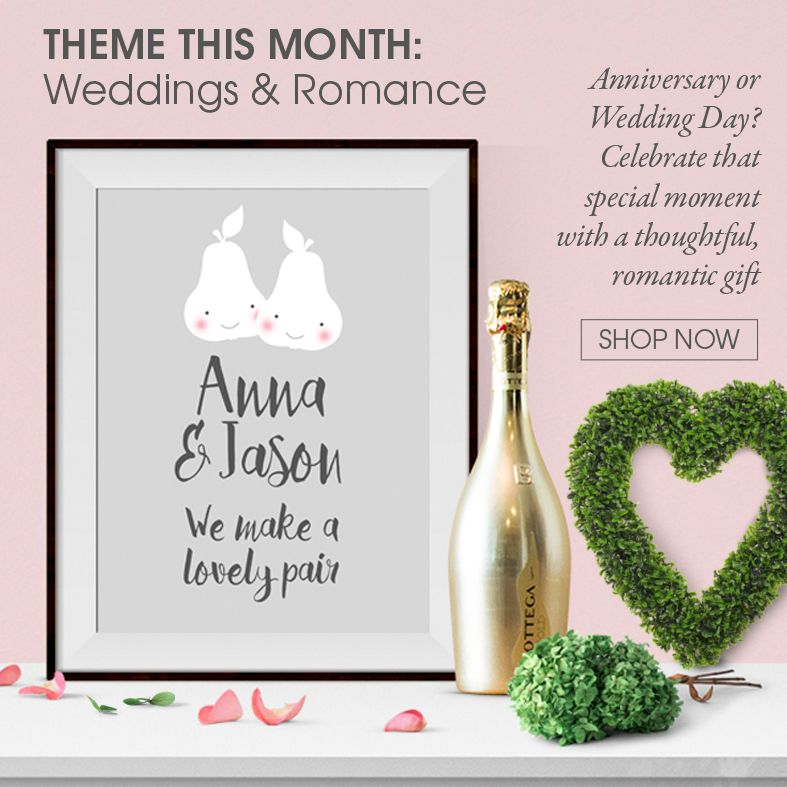 Personalised Wedding and Anniversary gifts | handmade personalised prints and gifts | made in Britain | PhotoFairytales