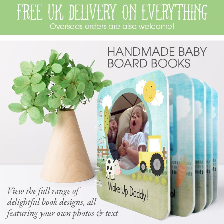 Personalised handmade baby board books | baby toddler gift | made in Britain | PhotoFairytales